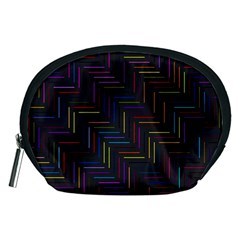 Lines Line Background Accessory Pouches (medium)  by Nexatart