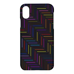 Lines Line Background Apple Iphone X Hardshell Case