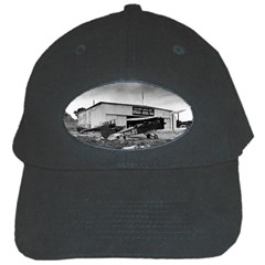 Omaha Airfield Airplain Hangar Black Cap by Nexatart