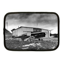 Omaha Airfield Airplain Hangar Netbook Case (medium)  by Nexatart