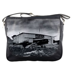 Omaha Airfield Airplain Hangar Messenger Bags by Nexatart