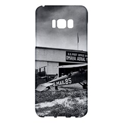 Omaha Airfield Airplain Hangar Samsung Galaxy S8 Plus Hardshell Case  by Nexatart