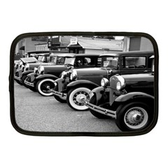 Vehicle Car Transportation Vintage Netbook Case (medium)  by Nexatart