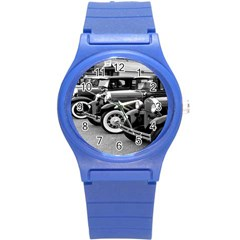 Vehicle Car Transportation Vintage Round Plastic Sport Watch (s)