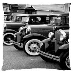 Vehicle Car Transportation Vintage Large Cushion Case (one Side) by Nexatart