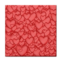 Background Hearts Love Tile Coasters