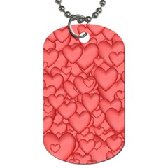 Background Hearts Love Dog Tag (two Sides) by Nexatart