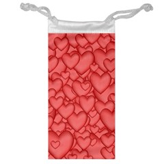 Background Hearts Love Jewelry Bag