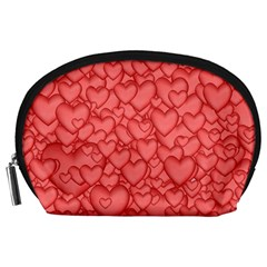 Background Hearts Love Accessory Pouches (large)