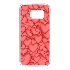 Background Hearts Love Samsung Galaxy S7 White Seamless Case