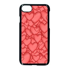 Background Hearts Love Apple Iphone 7 Seamless Case (black)