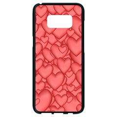 Background Hearts Love Samsung Galaxy S8 Black Seamless Case