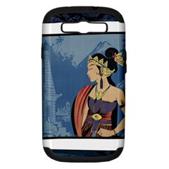 Java Indonesia Girl Headpiece Samsung Galaxy S Iii Hardshell Case (pc+silicone)