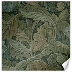 Vintage Background Green Leaves Canvas 20  X 20