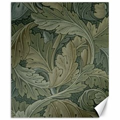 Vintage Background Green Leaves Canvas 20  X 24   by Nexatart