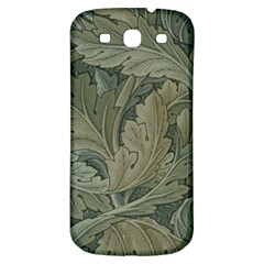 Vintage Background Green Leaves Samsung Galaxy S3 S Iii Classic Hardshell Back Case by Nexatart