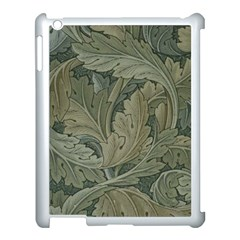 Vintage Background Green Leaves Apple Ipad 3/4 Case (white) by Nexatart