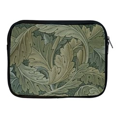 Vintage Background Green Leaves Apple Ipad 2/3/4 Zipper Cases