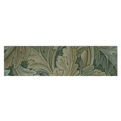 Vintage Background Green Leaves Satin Scarf (oblong)