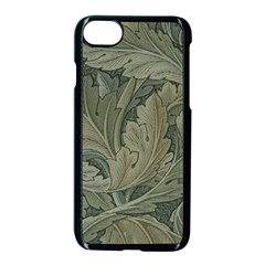 Vintage Background Green Leaves Apple Iphone 7 Seamless Case (black) by Nexatart