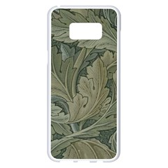 Vintage Background Green Leaves Samsung Galaxy S8 Plus White Seamless Case by Nexatart
