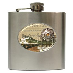 Train Vintage Tracks Travel Old Hip Flask (6 Oz)