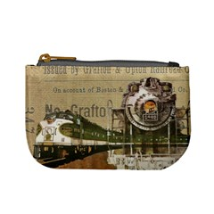 Train Vintage Tracks Travel Old Mini Coin Purses by Nexatart