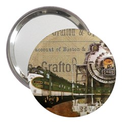 Train Vintage Tracks Travel Old 3  Handbag Mirrors by Nexatart