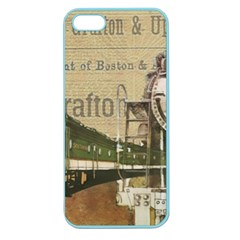Train Vintage Tracks Travel Old Apple Seamless Iphone 5 Case (color)