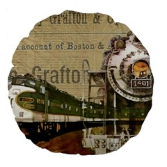 Train Vintage Tracks Travel Old Large 18  Premium Round Cushions