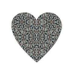 Ornate Pattern Mosaic Heart Magnet by dflcprints