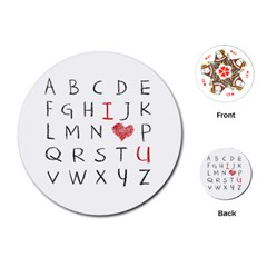 Love Alphabet Playing Cards (round)  by Valentinaart