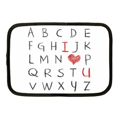 Love Alphabet Netbook Case (medium)