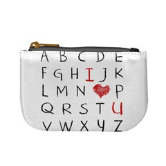 Love Alphabet Mini Coin Purses by Valentinaart