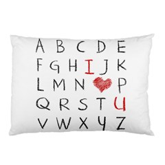 Love Alphabet Pillow Case (two Sides) by Valentinaart