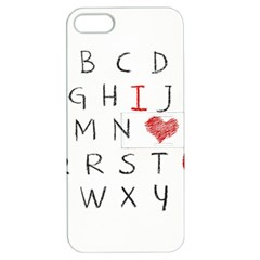 Love Alphabet Apple Iphone 5 Hardshell Case With Stand by Valentinaart