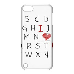 Love Alphabet Apple Ipod Touch 5 Hardshell Case With Stand