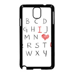 Love Alphabet Samsung Galaxy Note 3 Neo Hardshell Case (black) by Valentinaart