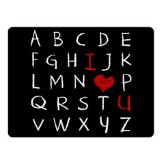 Love Alphabet Fleece Blanket (small) by Valentinaart