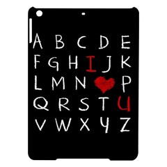 Love Alphabet Ipad Air Hardshell Cases by Valentinaart