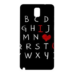 Love Alphabet Samsung Galaxy Note 3 N9005 Hardshell Back Case by Valentinaart