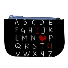 Love Alphabet Large Coin Purse by Valentinaart