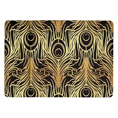 Gold, Black,peacock Pattern,art Nouveau,vintage,belle Epoque,chic,elegant,peacock Feather,beautiful Samsung Galaxy Tab 10 1  P7500 Flip Case