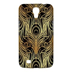 Gold, Black,peacock Pattern,art Nouveau,vintage,belle Epoque,chic,elegant,peacock Feather,beautiful Samsung Galaxy Mega 6 3  I9200 Hardshell Case by 8fugoso