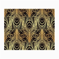 Gold, Black,peacock Pattern,art Nouveau,vintage,belle Epoque,chic,elegant,peacock Feather,beautiful Small Glasses Cloth by 8fugoso