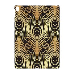 Gold, Black,peacock Pattern,art Nouveau,vintage,belle Epoque,chic,elegant,peacock Feather,beautiful Apple Ipad Pro 10 5   Hardshell Case by 8fugoso