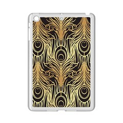 Gold, Black,peacock Pattern,art Nouveau,vintage,belle Epoque,chic,elegant,peacock Feather,beautiful Ipad Mini 2 Enamel Coated Cases by 8fugoso