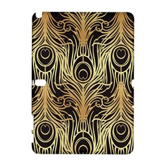 Gold, Black,peacock Pattern,art Nouveau,vintage,belle Epoque,chic,elegant,peacock Feather,beautiful Galaxy Note 1 by 8fugoso