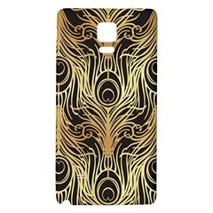 Gold, Black,peacock Pattern,art Nouveau,vintage,belle Epoque,chic,elegant,peacock Feather,beautiful Galaxy Note 4 Back Case by 8fugoso