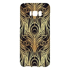Gold, Black,peacock Pattern,art Nouveau,vintage,belle Epoque,chic,elegant,peacock Feather,beautiful Samsung Galaxy S8 Plus Hardshell Case  by 8fugoso